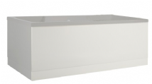 Low Level Matt White Bath Panels with Plinths